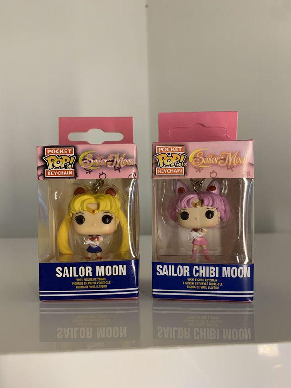 Funko Sailor Moon and Sailor Chibi Moon POP Keychains