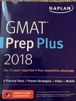Used GMAT Prep Plus 2018 for Sale in Mercer Island,  WA
