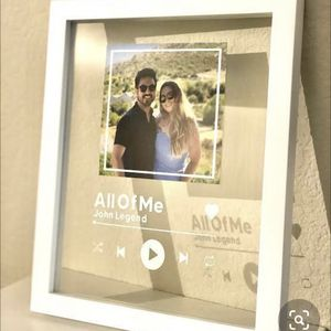 Spotify Glass Song Frame for Sale in Boston, MA