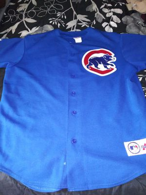 Chicago Cubs authentic baseball jersey. And also I have Arizona Cardinals Jersey authentic to everything. And everything stitched on. Size L. 60 for B for Sale in Tampa, FL