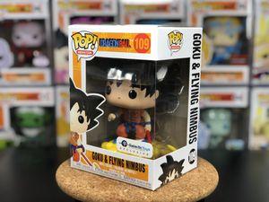 109 Galactic Toys Exclusive Funko POP! Animation Dragonball Goku & Flying Nimbus (Orange Gi) w/ Protector for Sale in Seattle, WA