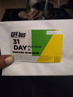 Get Bus Pass For 31 Day for Sale in Bakersfield,  CA