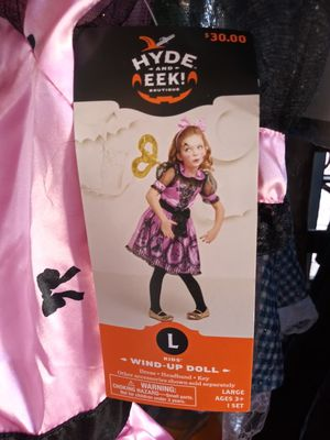 Wind-up Doll Dress Costume. NEW. Child Size Large 10-12 for Sale in Phoenix, AZ