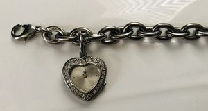 Guess Charm Bracelet with Heart Clock for Sale in Mesa, AZ