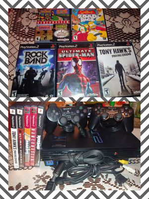 PlayStation 2 PS2 Simpsons Road Rage, Namco Museum, Tony Hawk's Proving Ground, Ultimate Spider-Man Rock Band Video Game Spiderman for Sale in Riverside, CA