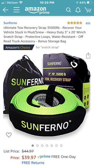 Tow Strap 35000lb Heavy Duty for Sale in Portland, OR