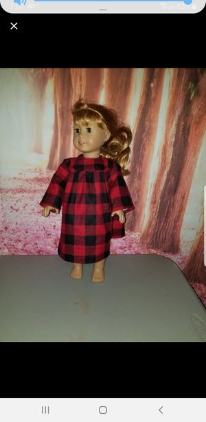 Buffalo Plaid doll night gown fit American girl for Sale in VT, US