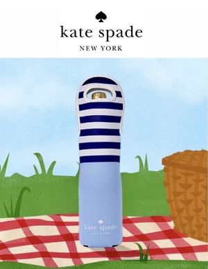 Kate Spade Wine Tote bag Blue White wine bottle holder cover New for Sale in Orlando, FL