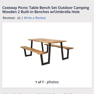New Wooden Picnic Bench Table for Sale in Fresno, CA
