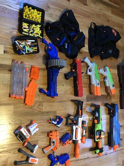 large assortment of nerf guns for Sale in Charlton,  MA