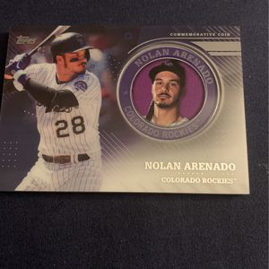 Nolan Arenado Coin Card Topps 2020 Baseball Series 2 for Sale in Chino Hills, CA
