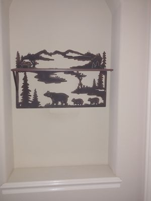 Urgent sale now! Woodland wall hanging with small Shelf for Sale in Tulsa, OK