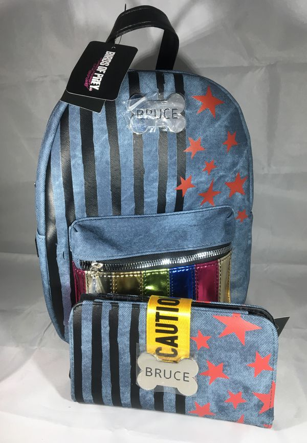 Dc comics birds of prey Harley Quinn backpack and wallet