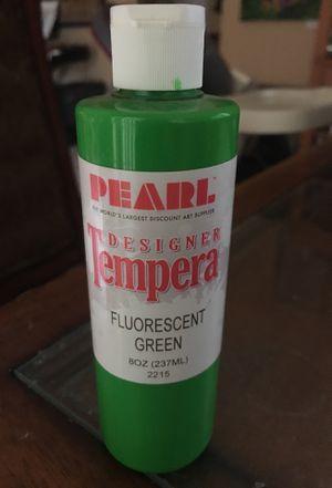 Pearl designer tempera paint flour scent green 8 oz bottle for Sale in Pembroke Pines, FL