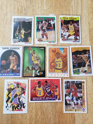 Magic Johnson Los Angeles Lakers NBA basketball cards for Sale in Gresham, OR