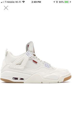 Jordan 4s Levi's white size 8 for Sale in Miami, FL