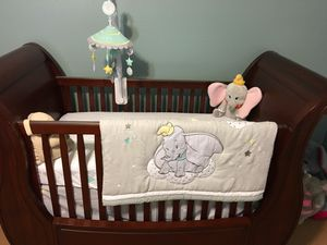 Pottery Barn Kids Nursery Set: Crib, changing table, glider with ottoman for Sale in Plano, TX