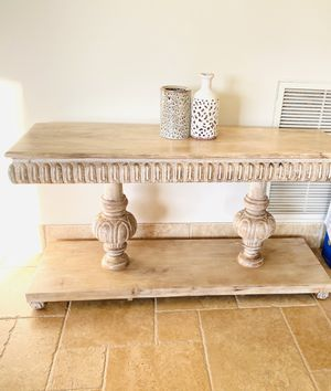 Hand carved consol table for Sale in Chandler, AZ