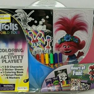 """DreamWorks Trolls World Tour Coloring & Activity Play Set Hours Of Fun Age 3+. Condition is """"New"""" for Sale in North Haven, CT"""