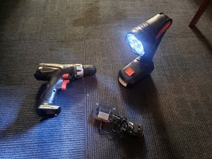 Drill and flash light with charger for Sale in City of Industry, CA