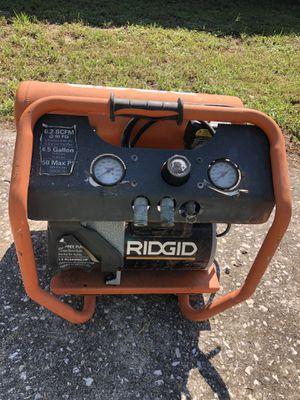 Rigid 4.5 gallon air compressor for Sale in St. Petersburg, FL