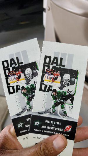 Dallas stars hockey game tickets for Sale in Dallas, TX