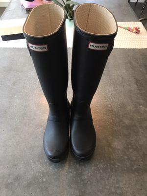 Hunter Women's Original Tall Rain Boots Black for Sale in San Diego, CA