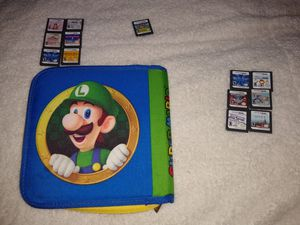 Nintendo DS lot 13 games Mario carry case for Sale in Puyallup, WA
