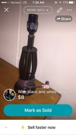 Lamp with cute shade for Sale in Greenville, SC