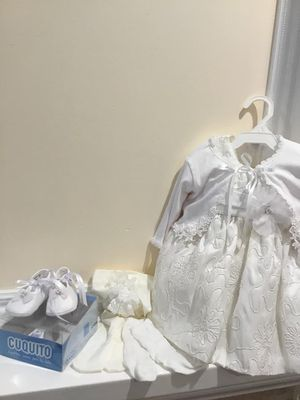 White Baby Dress Outfit (3 month old baby) for Sale in Queens, NY