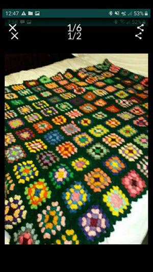 IL Granny Square Afgan Black with colors for Sale in Bolingbrook, IL