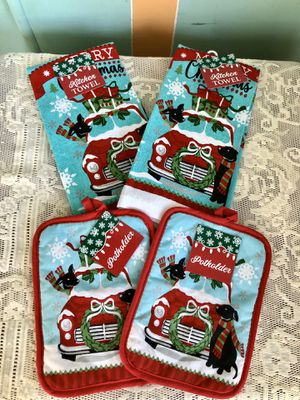 Red Truck Kitchen Towels & Pot Holders for Sale in Camp Hill, PA