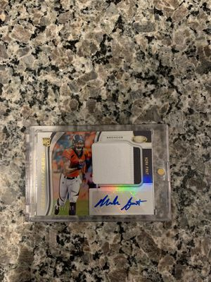 2019 panini certified Noah can't rookie auto patch 489/499 for Sale in Austin, TX