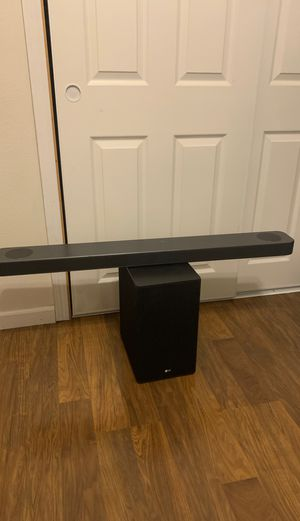 LG SL9YG 4.1.2 Channel High Res Audio Sound Bar w/Meridian Technology, Dolby Atmos and Google Assistant Built-in for Sale in Port Orchard, WA