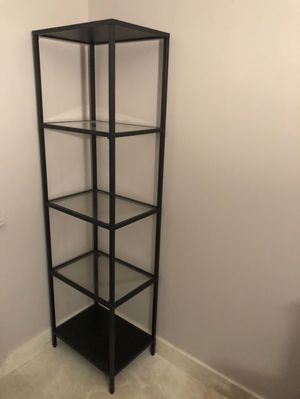1 or 2 GLASS SHELVING UNITS FROM PIER 1 IMPORTS, LIKE NEW for Sale in Miami, FL