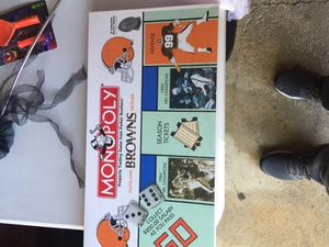Cleveland Browns monopoly board game for Sale in Parma, OH