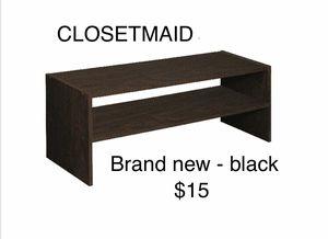 "CLOSETMAID 24"" Stackable Shoe closet Organizer black for Sale in Lakewood, CA"