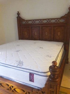 NEW QUEEN PILLOWTOP MATTRESS AND BOX SPRING INCLUDED 2 PC SET. BED FRAME IS NOT INCLUDED for Sale in Hialeah, FL
