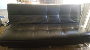 Black leather futon for Sale in Sacramento, CA