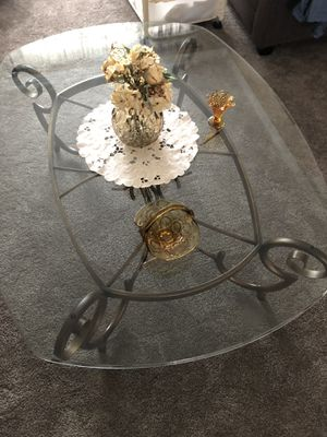 Set of 3 glass coffee tables for Sale in Yonkers, NY