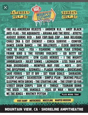 Warped Tour day tickets for Sale in San Francisco, CA