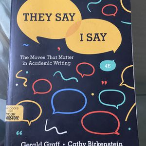 They Say, I Say Textbook for Sale in Anaheim, CA