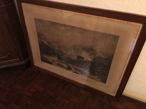 Pair Large Framed Antique Prints for Sale in Austin, TX