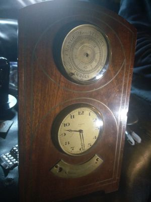 Antique barometer and clock swiss made for Sale in Portland, OR