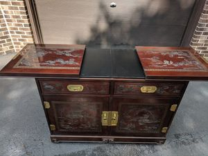 Must go TODAY!!! Antique Oriental cabinet/bar for Sale in Blooming Glen, PA