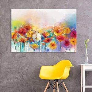 ((FREE SHIPPING)) Canvas wall art - watercolor style various colord flowers modern home decor Painting like print for Sale in New York, NY