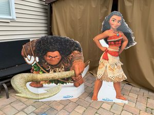 Moana and Maui cardboard cutout for party for Sale in Howell Township, NJ