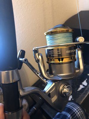 Penn rod shimano reel great conditions for Sale in Redwood City, CA