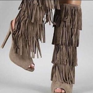 Taupe Fringe Boots for Sale in Tulsa, OK