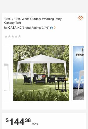 10 ft x10 ft. White outdoor wedding party canopy tent. for Sale in Bakersfield, CA